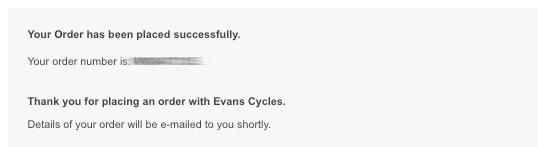 エヴァンス支払い成功