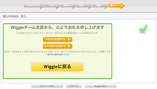 Wiggleでのお買い物成功!