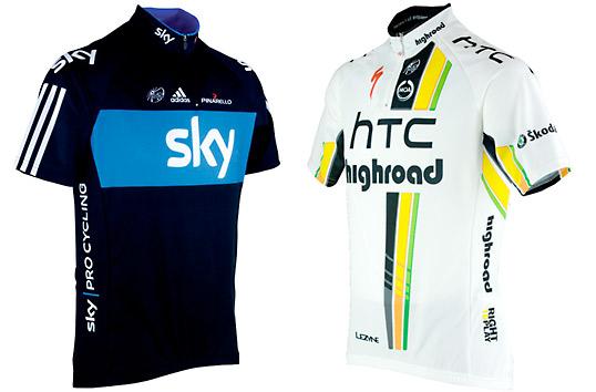 Team SkyとHTC Highroadのサイクルジャージ